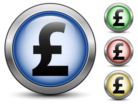 sterlina: Pounds icone sterlina segno, vettore