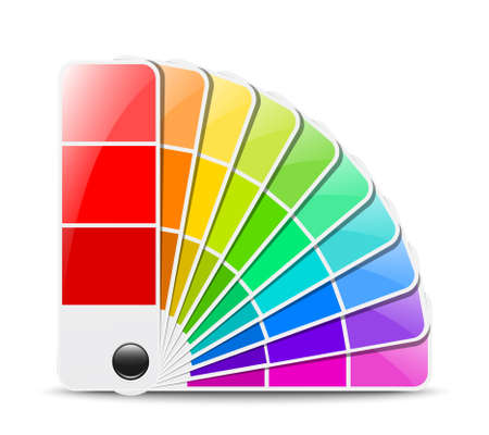 uncoated: Color palette icon. Vector illustration