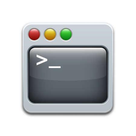 Vector command line icon 일러스트
