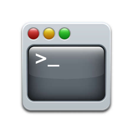 operating system: Vector command line icon Illustration