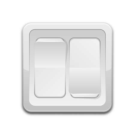 light switch: Vector double light switch icon Illustration