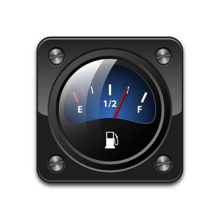 fuel gauge: Vector fuel gauge icon