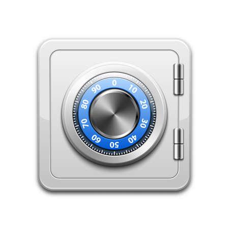safe money: Vector metal safe icon