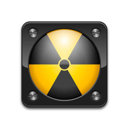 biological waste: Signo nuclear vector o icono