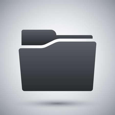 carpeta: Vector icono de la carpeta