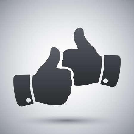 thumbs up icon: Vector manos con pulgares arriba icono