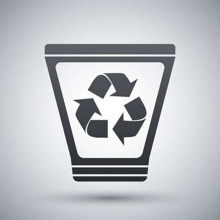 recycle icon: Vector recycle trash bin icon