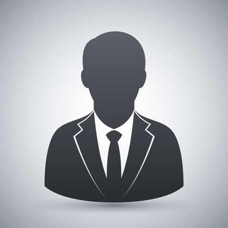 Vector gebruikers icoon van man in pak