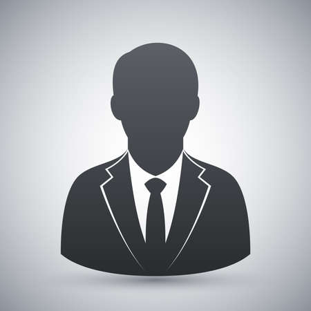 Vector user icon of man in business suit 向量圖像