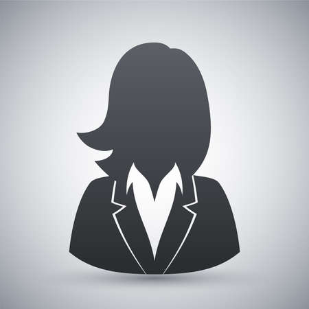 Vector user icon of woman in business suit