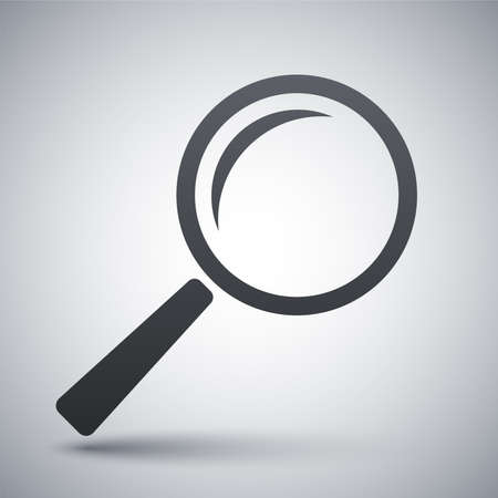 magnification: Vector search icon Illustration