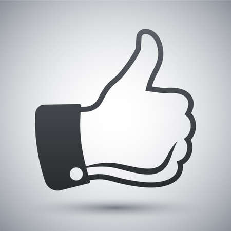 finger up: Vector thumbs up icon