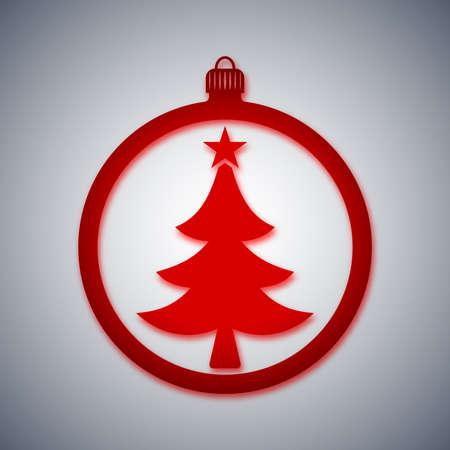 크리스마스 공: 벡터 크리스마스 공 아이콘