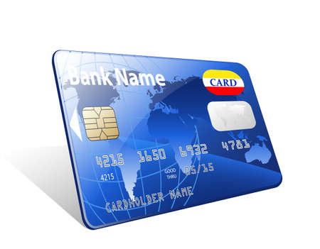 credit card debt: Vector credit card icon Illustration