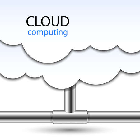 cloud computing: Cloud Computing Concept. Vector Illustration