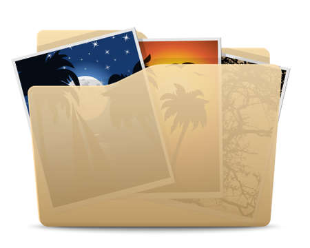 Pictures Folder Icon. Vector