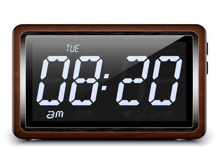 digital clock: Retro stylized Digital Alarm Clock. Vector