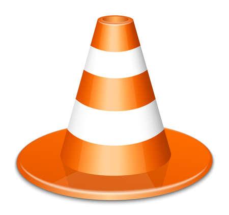 traffic cone: Traffic Cone Icon. Vector Illustration