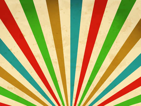 sunbeams: Retro background with multicolored sunbeams Illustration