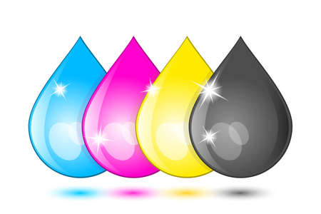 cartridges: Ink drops icon. Vector