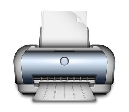 paper sheets: Printer icon with a paper sheets. Vector Illustration Illustration