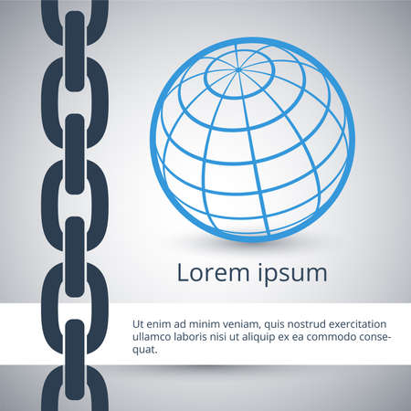 chain links: Modern design template of business background in flat style