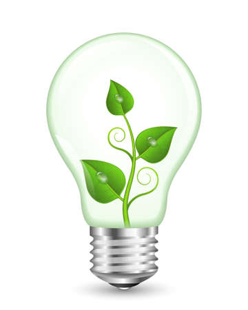 green bulb: Green Energy Concept. EPS10 Vector Illustration Illustration