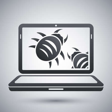 computer hacker: Laptop is infected by malware