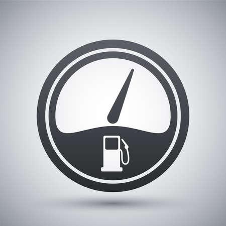 Kraftstoffanzeige-Symbol Standard-Bild - 41721447