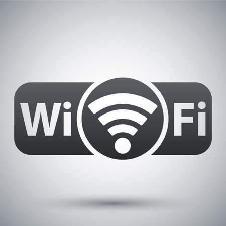 ethernet: Vector not genuine Wi-Fi icon Illustration