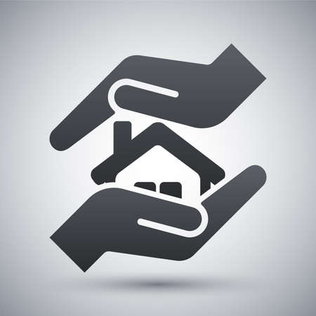 Vector protect house icon Illustration
