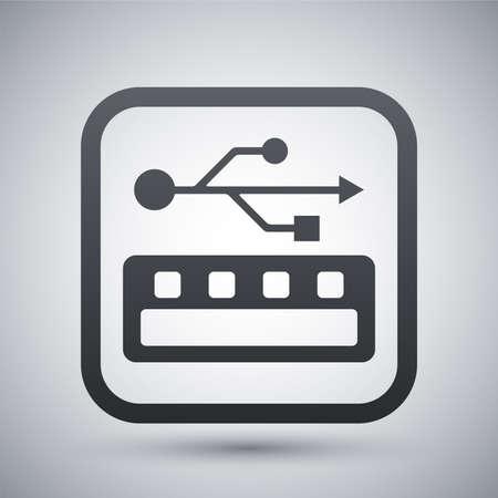 pendrive: usb socket icon