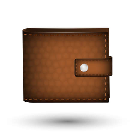 personal banking: Leather wallet Illustration