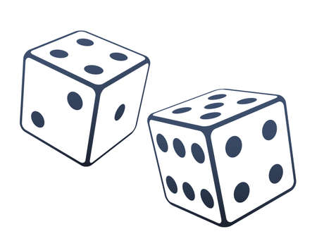 Two dices illustration