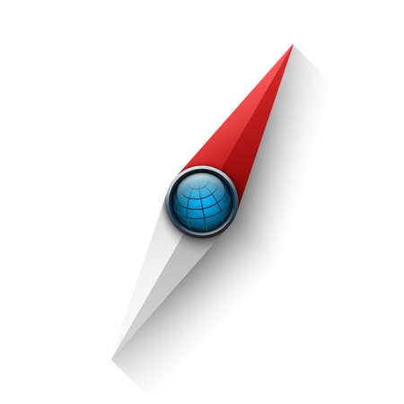 Compass needle vector illustration Иллюстрация