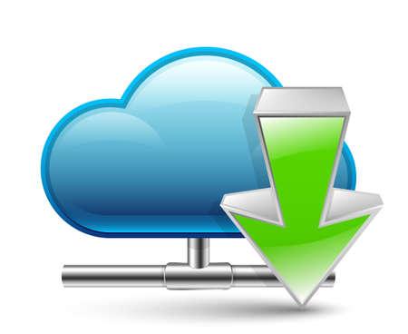 Cloud download icon Illustration Illustration