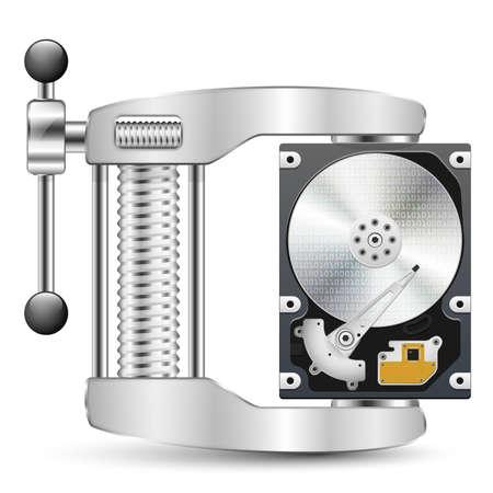 Icono de compresión de datos Ilustración de vector
