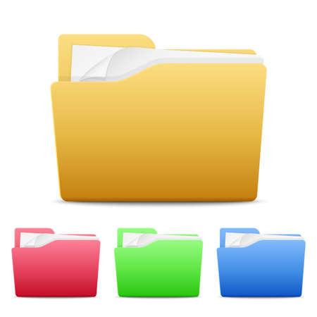 file folders: file folders icons isolated on white background