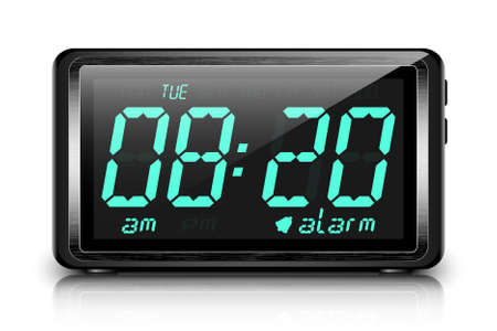 Digital alarm clock 版權商用圖片 - 41721210