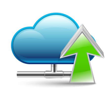 global settings: Cloud upload icon Illustration