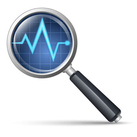 magnify: Diagnostic icon illustration
