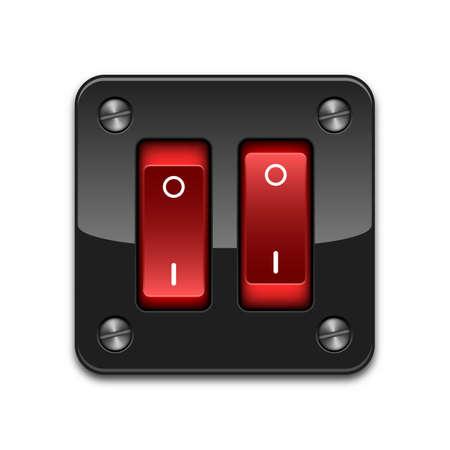 shutdown: double power switch icon