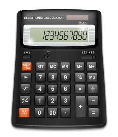 rekenmachine geïsoleerd op witte achtergrond Stock Illustratie