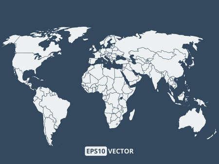 cartina del mondo: Illustrazione di mappa del mondo