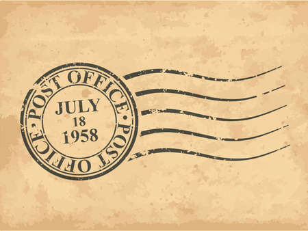 date stamp: Grungy postal stamp illustration