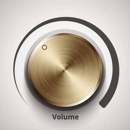 volume knob: volume knob with gold texture Illustration