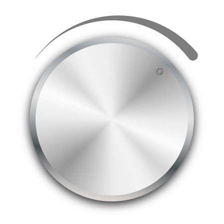 volume knob on white background