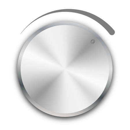 volume knob: volume knob on white background