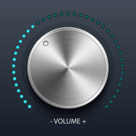 volume knob: Volume knob with metal texture