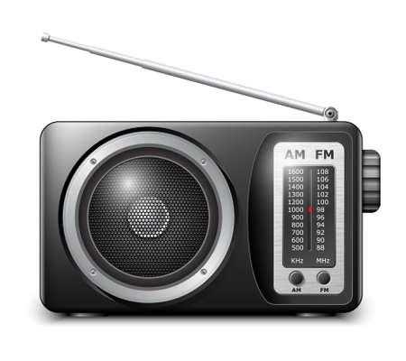 Retro radio 일러스트